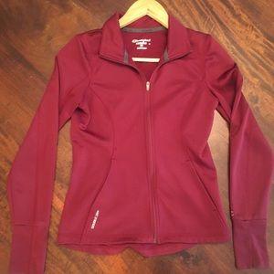CHAMPION Burgundy Zip Up Stretch Jacket Size XS